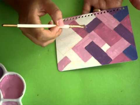 Tutorial Como Pintar Cuadernos *Paint Covers* Pintura Facil Para Ti.wmv