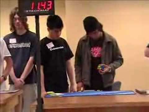 One-Handed 3x3x3 Rubik's Cube solve (20.09 seconds solve)