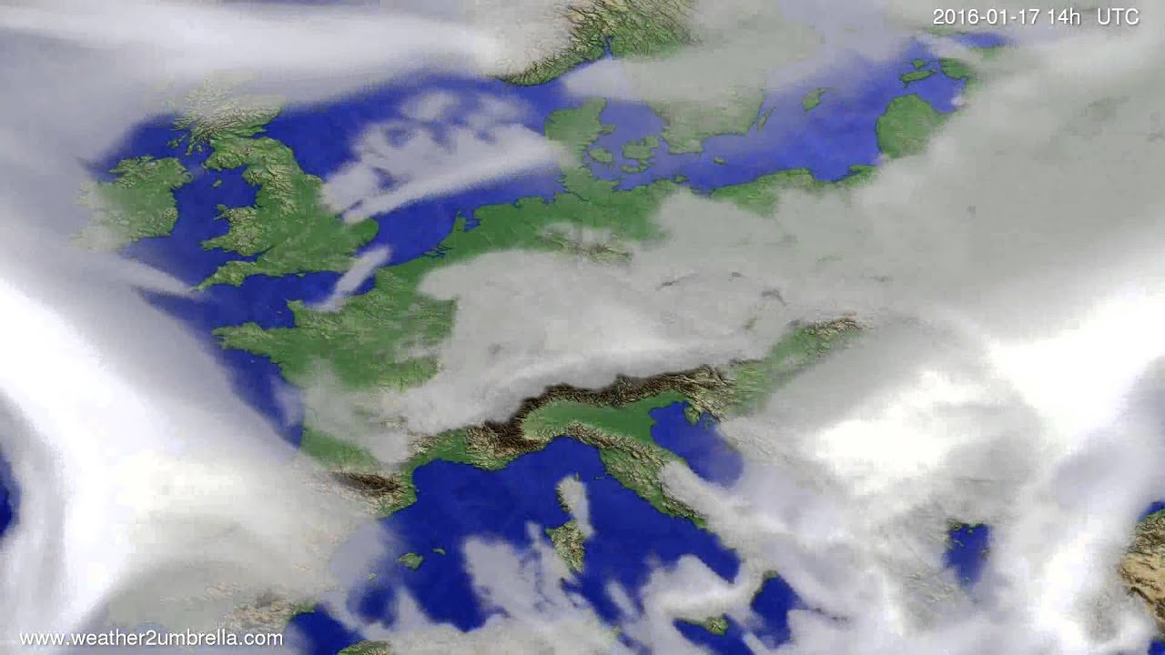 Cloud forecast Europe 2016-01-13