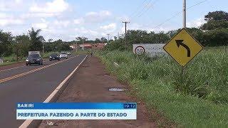 Prefeitura de Bariri faz recape em trecho urbano da SP-261