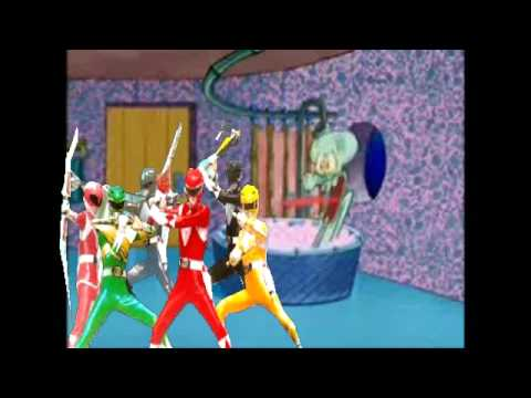the Mighty Morphin' Power Rangers drop by Squidward's house [v2]