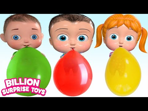 Learn colors with Balloon + More BST Nursery Rhymes & Kids Songs