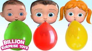Colorful Balloons | Children Songs | Billion Surprise Toys