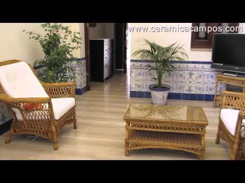 Azulejos sevillanos para patios videos videos for Azulejos para patios