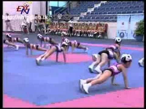 http://nhipdieu.tk - thi đấu aerobic mẫu giáo - bé thích vận động