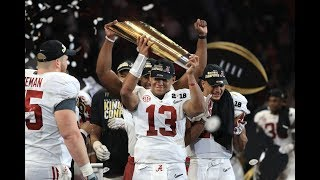 Tua Tagovailoa (Alabama QB) vs Georgia - 2018 National Championship