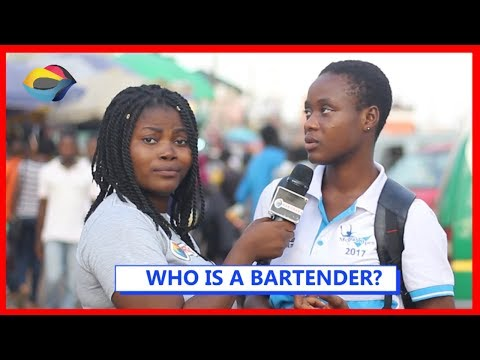 WHO IS A BARTENDER?  Street Quiz  Funny Videos  Funny African Videos  African Comedy