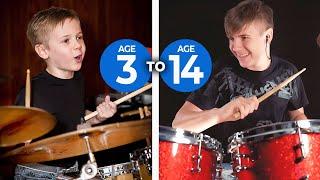 Progression of a Child Drummer Image