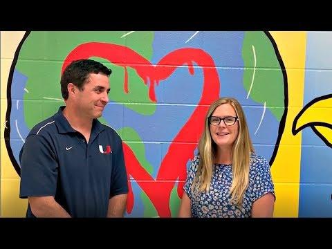 Tim Carver and Dania Wilson UHS Welcome