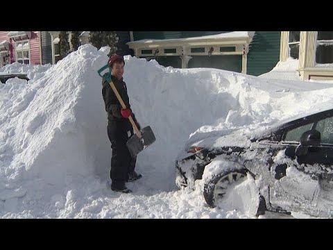 Heftige Schneefälle: Kanadische Provinz Neufundland und Labrador versinkt im Schnee