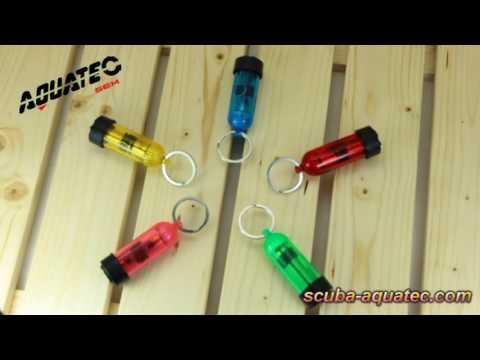 Scuba-Aquatec LED-2575  Choice Diving Mini Tank Key Ring with LED Light & O-Rings-2