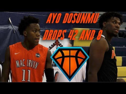 Ayo Dosunmu DROPS 42 Points In Matchup With Naz Reid & Jahvon Quinerly!! | Mac Irvin Vs NJ Playaz