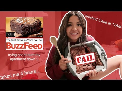 "*trying* buzzfeeds ""best brownies you'll ever eat"" 