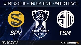 SPY vs TSM - World Championship 2016 - Group Stage Week 1 Day 3