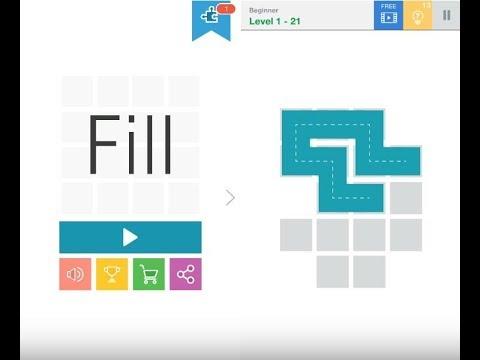 《益智一筆畫解謎 Fill》手機遊戲玩法與攻略教學!