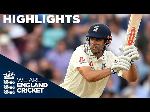 Alastair Cook Unbeaten On 46! | England v India 5th Test Day 3 2018 - Highlights (видео)