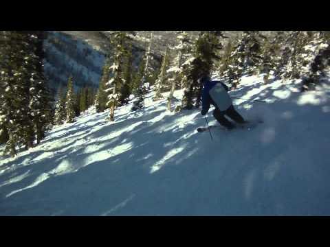 Aspen Mountain Helmet Cam Following Freestyle Coach