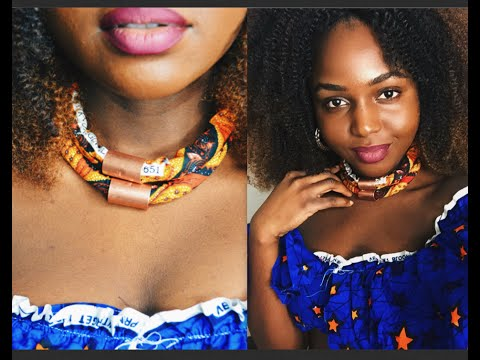 DIY AFRICAN ANKARA NECKLACE