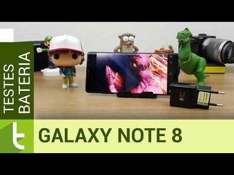 Autonomia do Samsung Galaxy Note 8  Teste de bateria oficial do TudoCelular