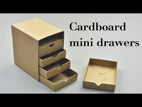 Video DIY Cardboard Mini Drawers Tutorial download in MP3, 3GP, MP4, WEBM, AVI, FLV January 2017
