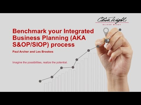 Benchmark your Integrated Business Planning AKA S&OP:SIOP process