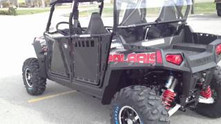 9. 2012 RANGER RZR 4 800 EPS BLK/WHT/Red LE Robby Gordon Edition with Pro Armor Doors