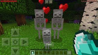 How To Breed Skeletons in Minecraft Pocket Edition (Skeleton Breeding Addon)