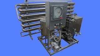 Видео: Комплект оборудования для пастеризации (проточный пастеризатор-охладитель молока) ИПКС-013-3000-300. С увеличенным временем выдерживания - 300 секунд.