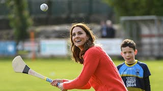 video: Duke of Cambridge showcases juggling skills, but it's the Duchess who triumphs on the sports field