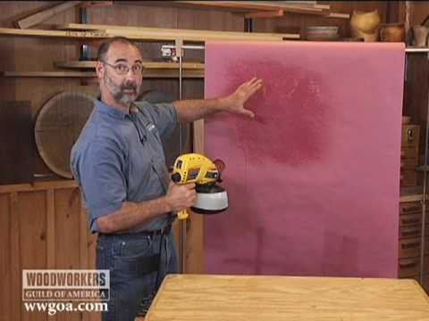 airless spray - http://wwgoa.com Woodworking Tips: Fishing - When it comes to applying stains and topcoats, HVLP sprayers work great. But what about those projects you plan ...