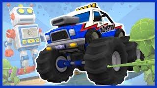 Играем в гонки Toybox Turbos.Катаемся на игрушечных машинках (внедорожник, монстр-кар,джип) по школе.