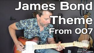 How To Play James Bond Theme from 007 - Guitar Lesson