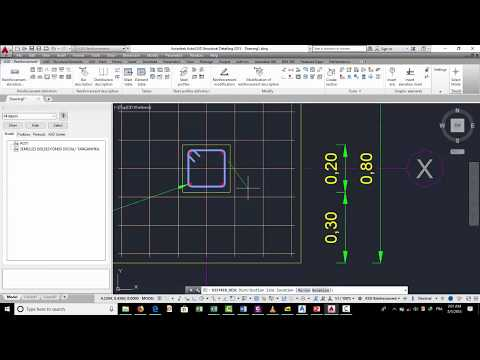 Disign bars for footing with AUTOCAD STRUCTURAL DETALING