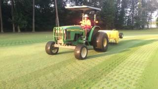 Aerification and other cultural practices performed at The Bear Trace at Harrison Bay during the summer of 2017.