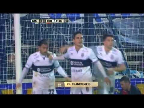 Gol de Niell. Gimnasia 3 – Colón 0. Fecha 16. Primera División 2016