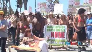 National GoTopless Day, Venice Beach, California - Part 2