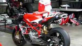 8. Warming up Ben Bostrom's Ducati 999
