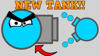 CRAZY NEW DIEP.IO SKIMMER TANK!! // vs Boss // 250K+ First Att...