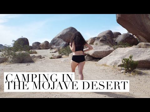 Camping in the Mojave Desert // Valentine Vlogs