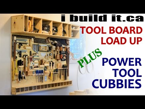 tool - Free plan for the power tool shelf unit: http://www.ibuildit.ca/Workshop%20Projects/tool-board-2.html.