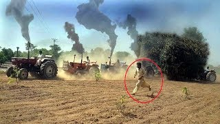 Long Tractor tochan pulling Stuck Tractor Trolly/Tractor Pulling Videos