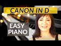 Canon in D  Easy Piano Tutorial/Sheet Music