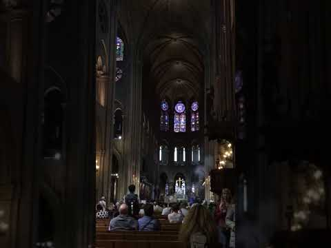 Clip from mass in Notre Dame Cathedral, Paris