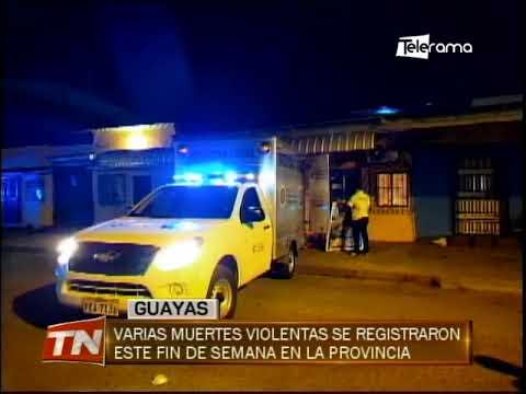 Varias muertes violentas se registraron este fin de semana en la provincia