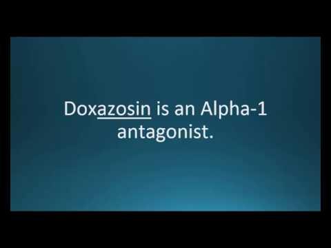 How to pronounce doxazosin (Cardura) (Memorizing Pharmacology Flashcard)