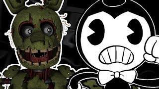 SPRINGTRAP PLAYS: Bendy in Nightmare Run || BEING CHASED BY A GIANT TREASURE CHEST!!!