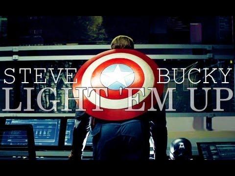 Steve x Bucky || light 'em up видео