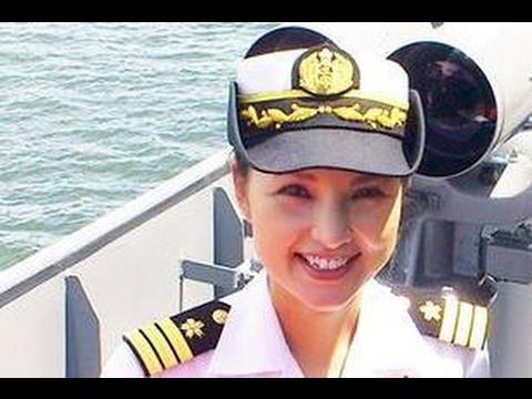 海上自衛隊 女性艦長 「しまゆき」 出港  TV-3513