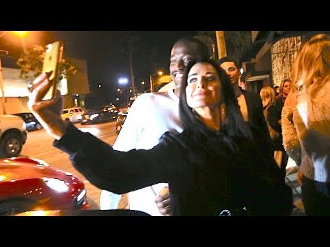 Kyle Richards Mingles With Fans After Dining In WeHo