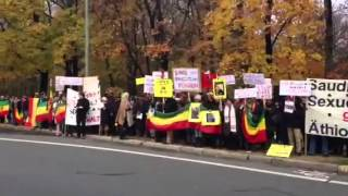 Berlin Protest: Stop Violence Against Ethiopians In Saudi Arabia!